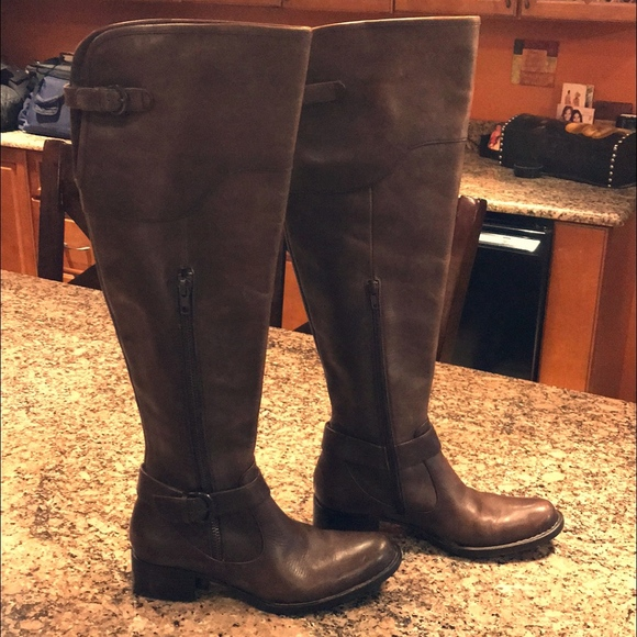 f3d3f6b8d8f Born Shoes - Born Crown Selyse Brown Leather Over The Knee Boot